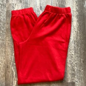 Colsie Jogging Pants Red Large New